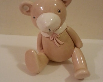 Ceramic Teddy Bear Wall Hook