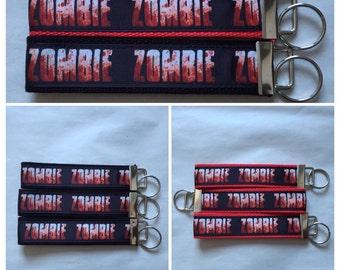 Zombie Keychains/Key Fob, blood, zombie apocalypse, accessory