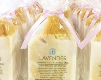 Lavender Essential Oil Soap Sponge