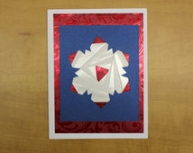 Iris Folded Snowflake Card