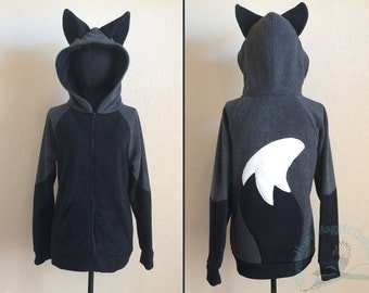 Silver Fox Fleece Hoodie - Adult Sizes S-3XL