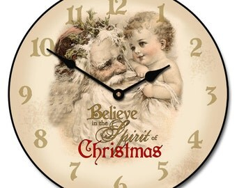Spirit of Christmas Wall Clock