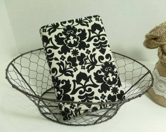 Bible cover, book cover, NWT, New world translation, black and cream damask, bible protector