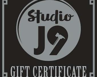 Studio j9 Gift Certificates