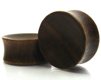 Concave Organic Ear Plugs Lignum Vitae Ear Plugs/Gauges