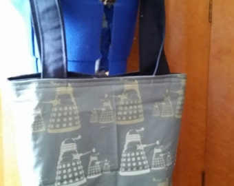 Doctor Who Dalek inspired tote bag