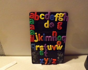 Magnetic Board With Magnetic Letters