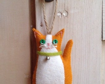 Hanging Felt Little Ginger Cat