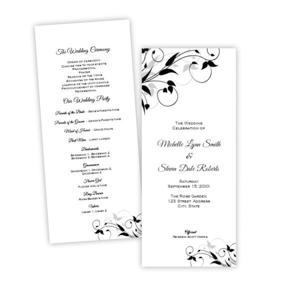 Tea Length Wedding Program Elegant Tiffany