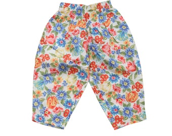Vintage 80s cute floral trousers pants size 2 years