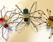 Custom Beaded Spiders for Gloria Koch