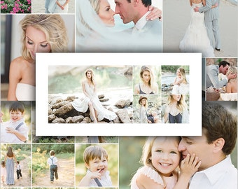 Photo Collage Template - Storyboard - 10x20 Collage - 48 Pack For Photographers - STORYLINE - 1539