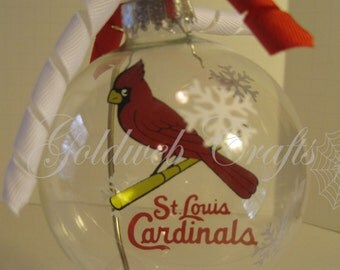 St. Louis Cardinals Inspired Floating Glass Ball Christmas Ornament