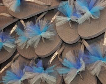Custom GYMNASTICS Flip Flops TEAM Flip Flops, Personalized Tulle Flip Flops, competition, CHEERLEADING, Team Spirit,