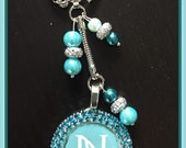 Nerium keychain nerium bag charm clear or blue pendant