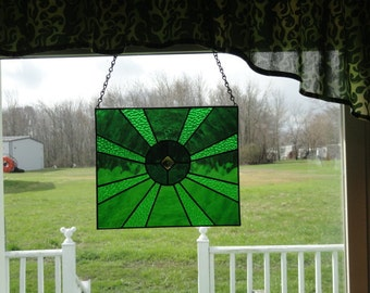 Tunnel green stain glass