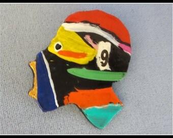 Vintage Pin Brooch by Artist Joe Sam