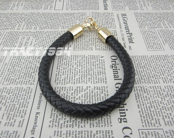 16 inch Black Synthetic Leather Bag Handle