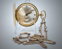 Good investment! You Save 457 Euro!!! Normal Price 1856 Euro! Zenith- 18 K solid gold full hunter pocket watch