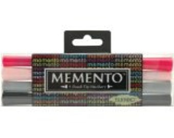 Memento Dual-Tip Markers 4/Pkg-Girls' Night Out Brand New