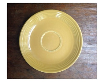 "Vintage Fiesta Ware - 6"" Saucer Plate - Yellow 1950's"