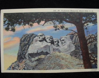 Postcard: Mt. Rushmore Memorial, Black Hills, S. D.