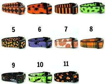 Halloween Dog Collar  (Mini,X-Small,Small,Medium ,Large or X-Large Size)- Adjustable