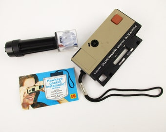 A Fun 'Hawkeye Pocket Instamatic' by Kodak -  Camera With Flash Tower and Manual - Fun and Clean - 1972 -Simple Operation