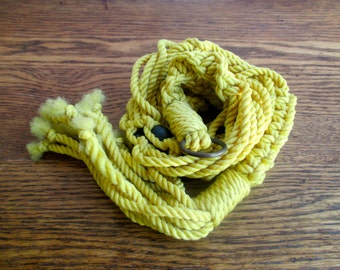 Vintage Yellow Rope Hanging Plant Holder