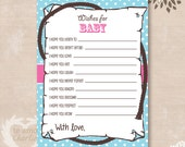 Cowgirl Wishes for Baby Western Baby Shower Printable Game - Personalized Western Baby Shower Game