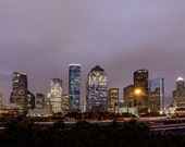 Downtown Houston Skyline - Landscape Photography - Fine Art Photograph