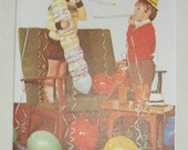 1970s Vintage Happy Birthday Card Boys with Balloons