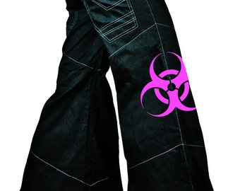 Cryoflesh Biohazard Cyber Rave Graver Gothic Industrial Edm Female Phat Pants