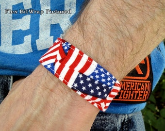 Fitbit Flex, One, Charge, Charge HR, Surge, Alta, Alta HR, Blaze, Flex 2, Charge 2-American Flag Print Band-BitWrap