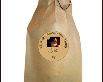 Christmas Blind Wine Tasting Kit - Christmas Wine Bags