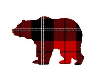 DIY Buffalo Print Bear