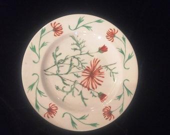 Antique Art Nouveau Porcelan Plate, ca early 1900s