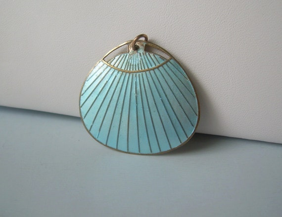 Japanese paddle fan pendant vintage antique by cougarcovejewelry - Japanese paddle fan ...