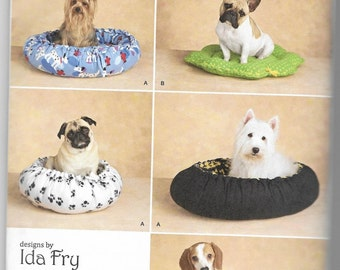 2297 Simplicity No Sew Dog Beds Sewing Pattern Two Styles Five Sizes