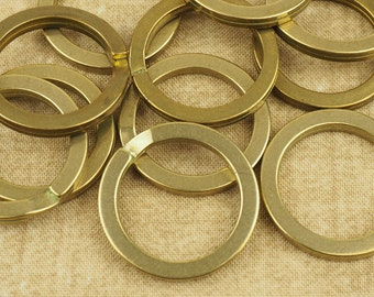 Japanese 27mm Split Ring Keyring - Solid Raw Brass - high-quality keychain accessory - SOLD INDIVIDUALLY (1pcs)