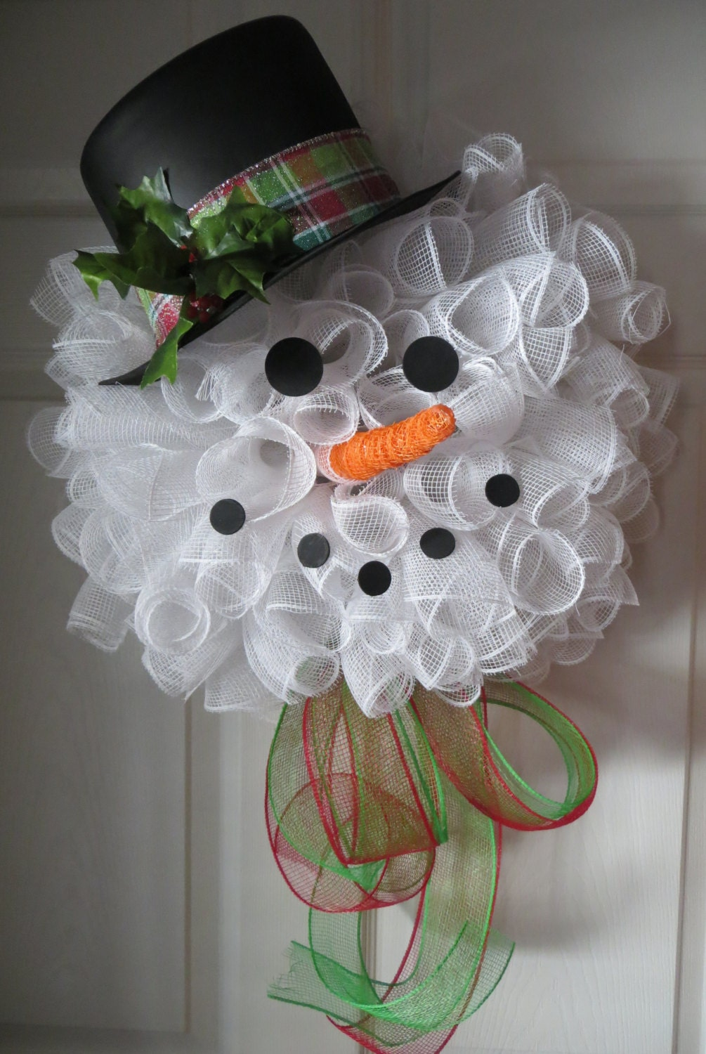Frosty The Snowman Deco Mesh Wreath