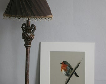 Robin - Limited edition giclee print from original pastel drawing by Imogen Man