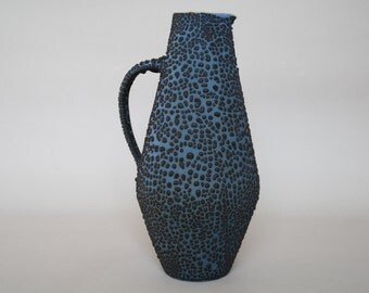 Dark glazed Albert Kiessling studio vase with a 'Snakeskin' glaze