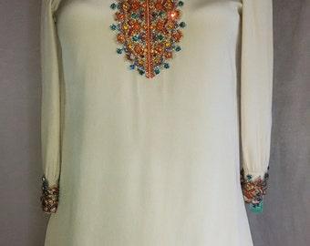 """1967 Jeweled  Mini Dress """"Sak's Fifth Avenue"""""""