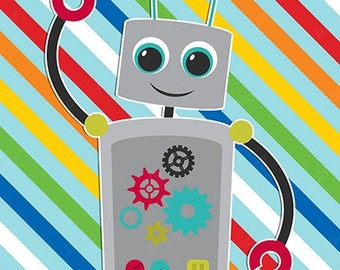 Colorful Robot personalized bank