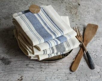 Striped Cotton Tea Towel  Eco Friendly