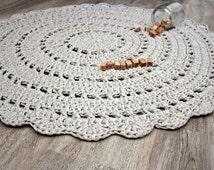 Crochet rug, crocheted rug