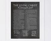 The Living Christ, Chalkboard Digital Printable