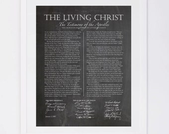 The Living Christ, Chalkboard Digital Printable