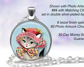 Best Cool Cat Glass Dome Pendant Necklace for Women Gold Silver Bronze Copper Black Locket Name Friendship Monogramed Charm Anchor Love